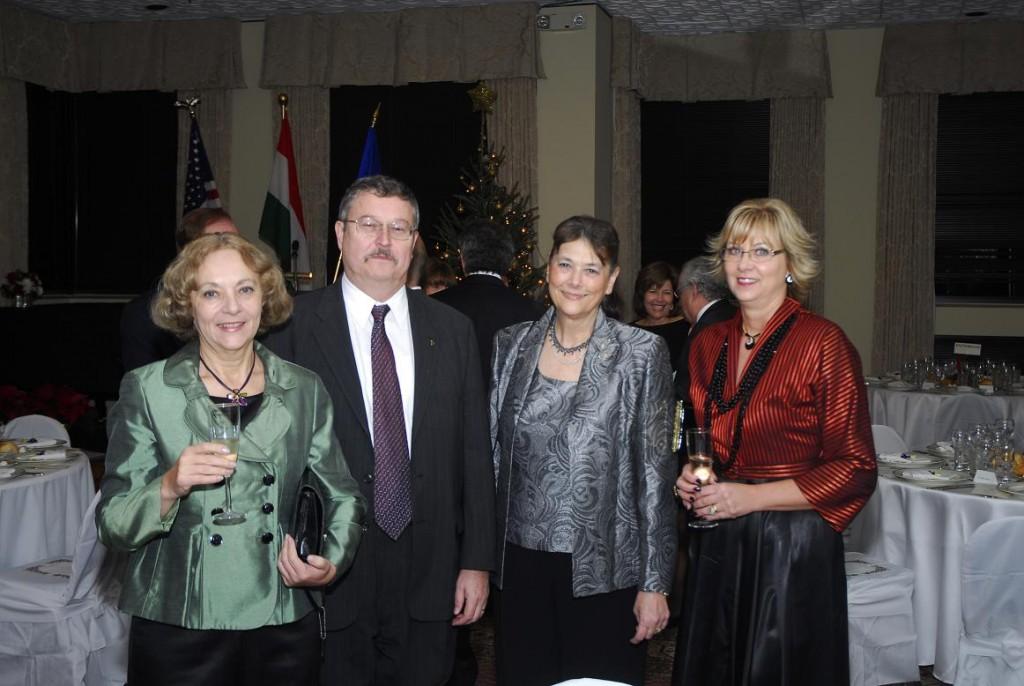 Mrs. Emese Purger, Mr. Imre Lendvai-Lintner, Mrs. Agnes Fulop and Agnes Lendvai-Lintner