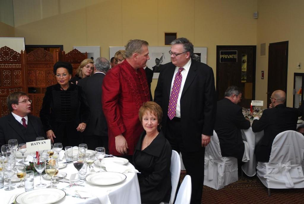 Bishop Tamas Fabiny, Mrs. Georgina Bojtos, Mr. Louis Szablya, * and Mr. Janos Szablya