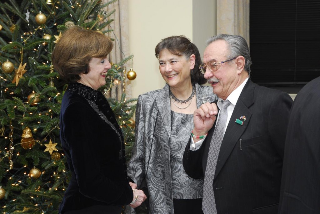 Amb. April Foley, Mrs. Agnes Fulop and Mr. Laszlo Fulop