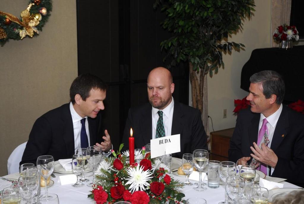 Prime Minister Gordon Bajnai, Jeff Hovenier and Amb. Béla Szombati
