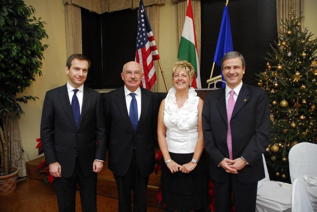 Prime Minister Gordon Bajnai, Prof. János Martonyi, Amb. and Mrs. Béla Szombati