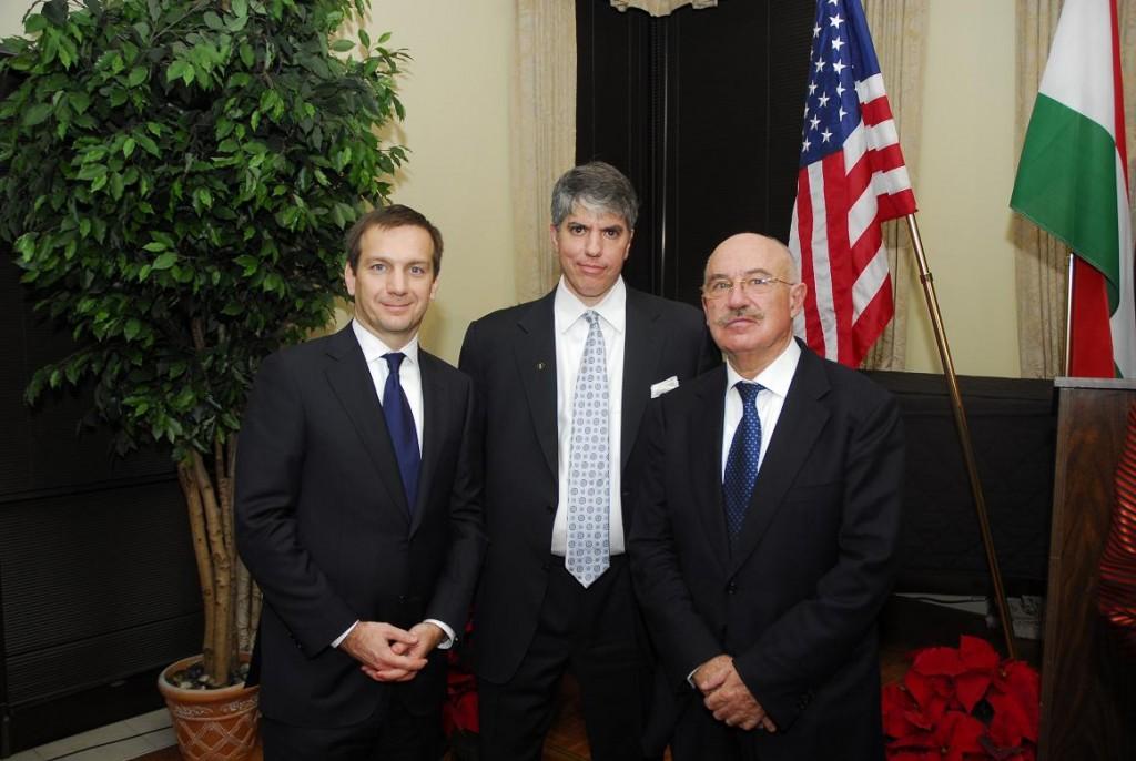 Prime Minister Gordon Bajnai, Mr. Maximilian Teleki and Prof. János Martonyi