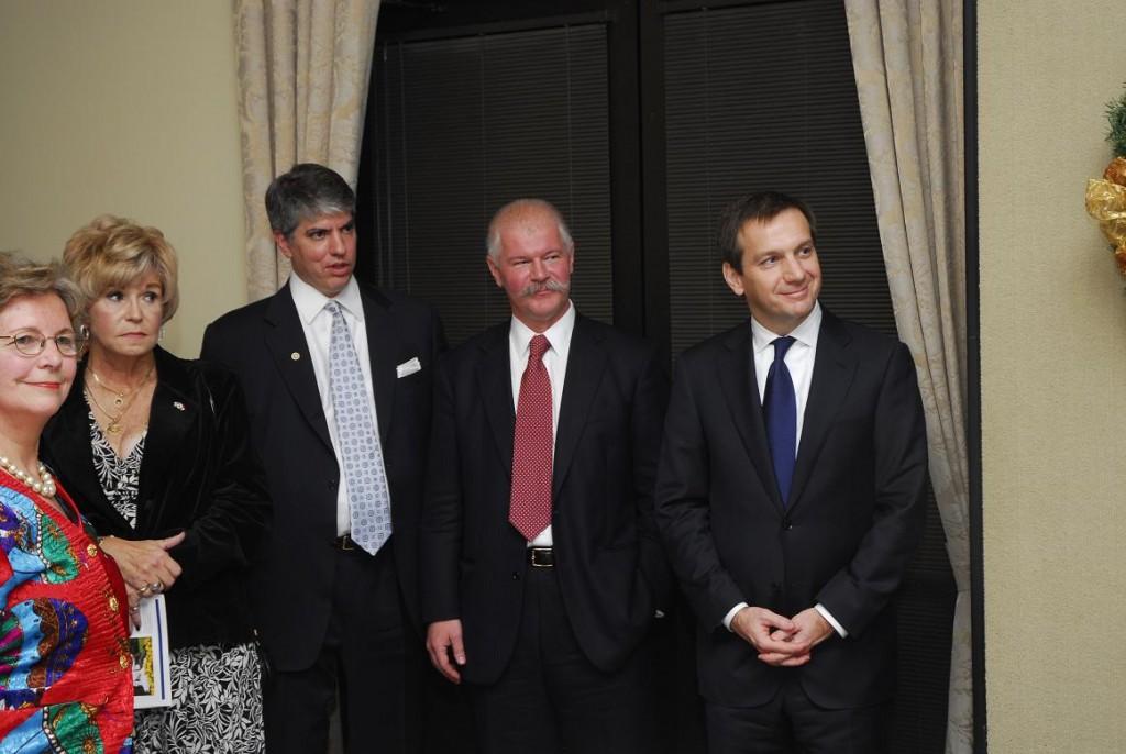 Mrs. Edith K. Lauer, Ms. Barbara House, Mr. Maximilian Teleki, Mr. Janos Csak and Prime Minister Gordon Bajnai