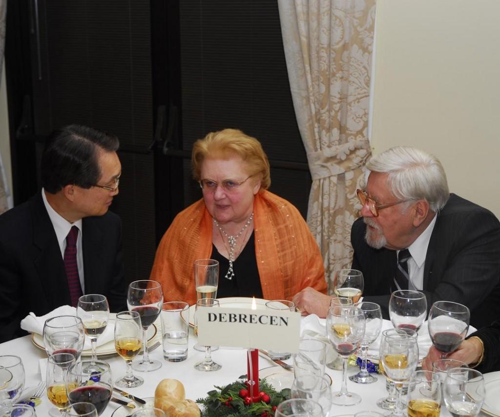 Amb. Ho-Jin Lee, Mrs. Helen M. Szablya and Mr. Laszlo Bojtos