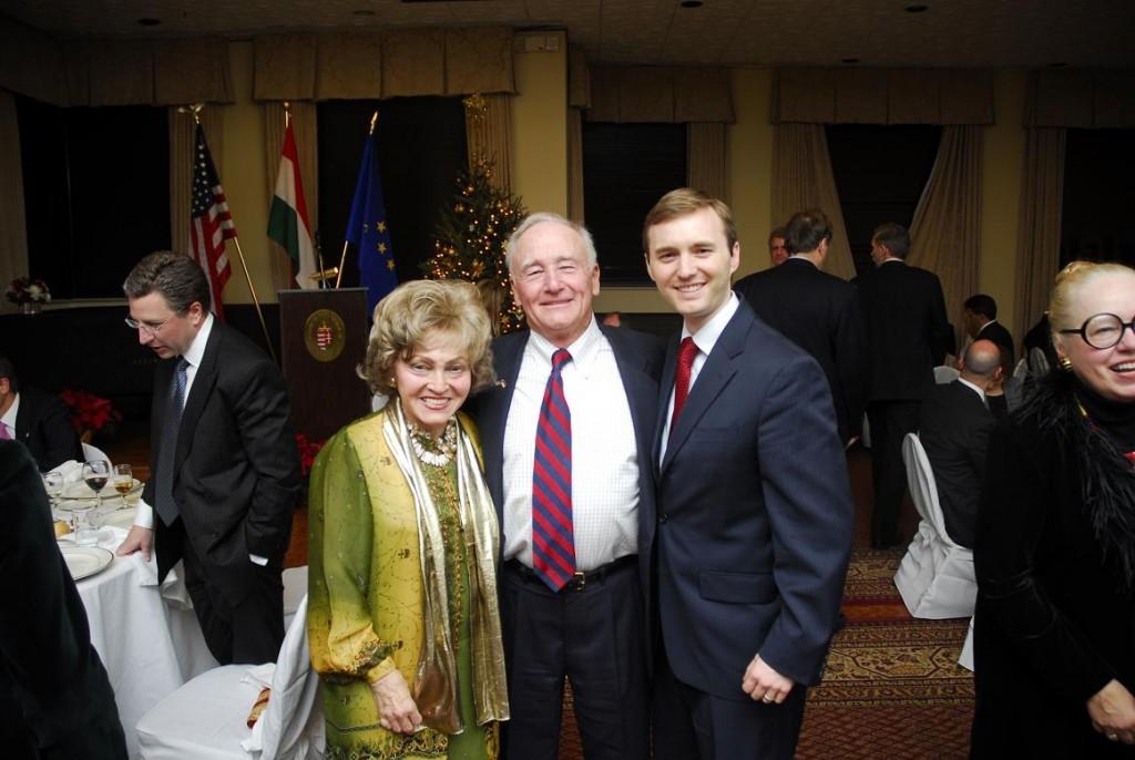 Mrs. Anette Lantos, Amb. George Herbert Walker and Mr. Tomicah Tillemann