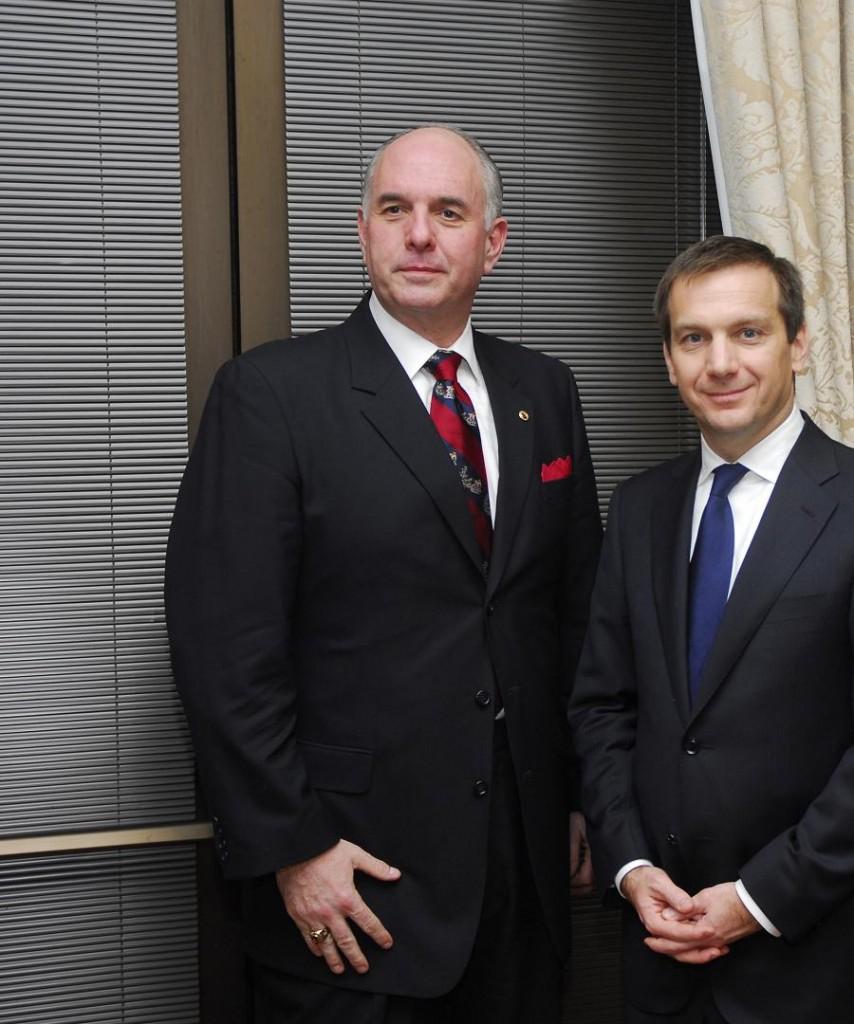 Mr. Steven Varga and Prime Minister Gordon Bajnai