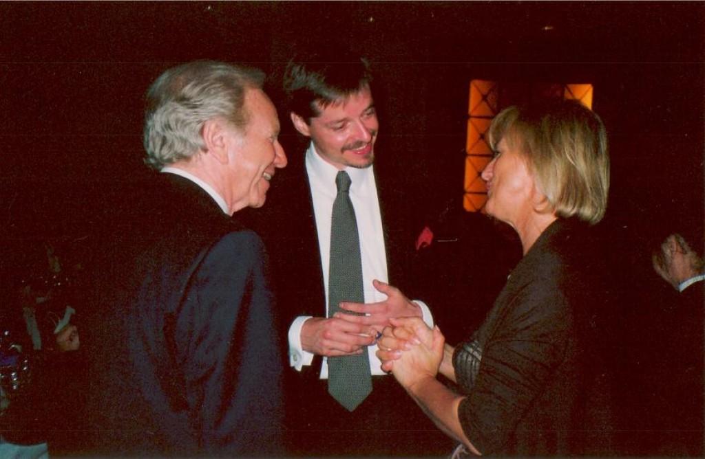 Senator Joe Lieberman (D-CT), Mr. Szabolcs Kerek-Barczy, Consul General in LA, and Dr. Ibolya David, President of MDF