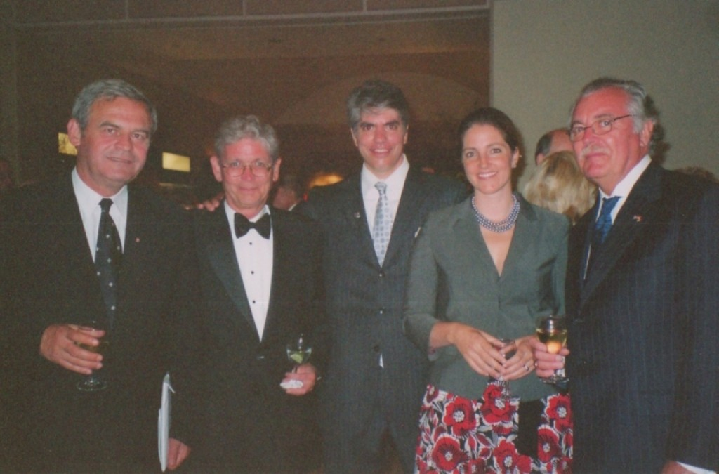 Mr. Laszlo Hamos, Mr. Maximilian Teleki, Mrs. Wendy Teleki, and Mr. Imre Lendvai-Lintner, President of HSAA