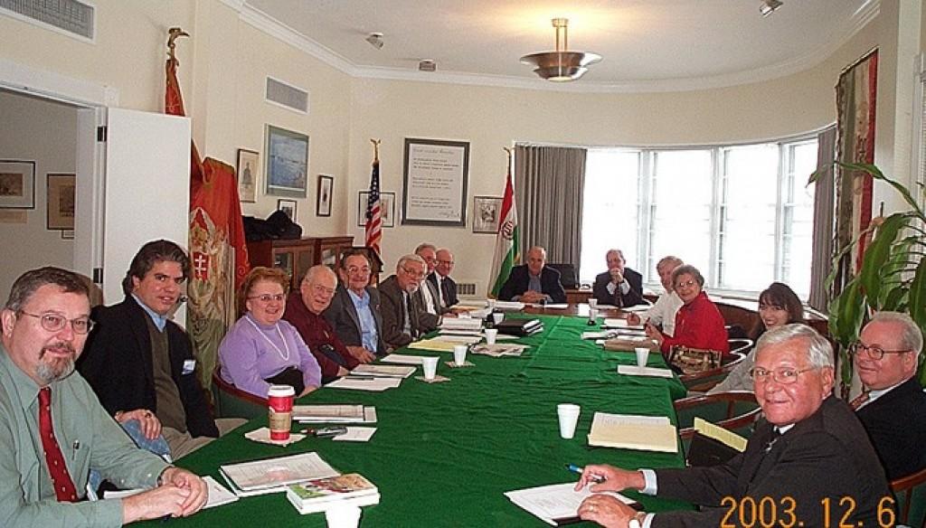 Annual Meeting Mr. Imre Lendvai-Lintner, Mr. Maximilian Teleki, Mrs. Helen M. Szablya, Mr. John Szablya, Mr. László Fülöp, Mr. László Böjtös, Mr. Andrew Ludányi, Mr. Ted Horvath, Mr. Charles Vámossy, Mr. Zsolt Szekeres, Mr. Peter Soltész, Mrs. Edith K. Lauer, Ms. Christina Stacey, Mr. Zoltán Bagdy, Rev. Stefan M. Török