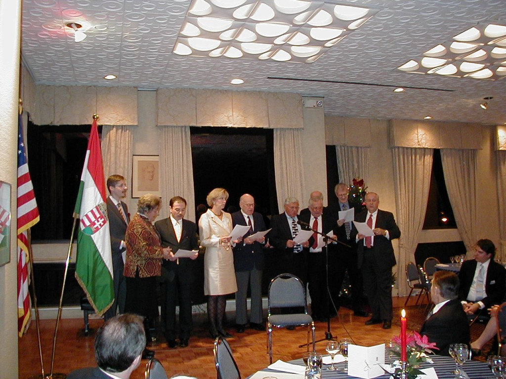 Impromptu Coalition Choir Ensemble Mr. Szabolcs Kerék-Bárczy, Mrs. Edith K. Lauer, H.E. András Simonyi, Mrs. Ágnes Lendvai-Lintner, Mr. Ted Horvath, Rev. Stefan M. Török, Mr. Zsolt Szekeres, Mr. Jean-Pierre Schwartz, Mr. Charles Vámossy