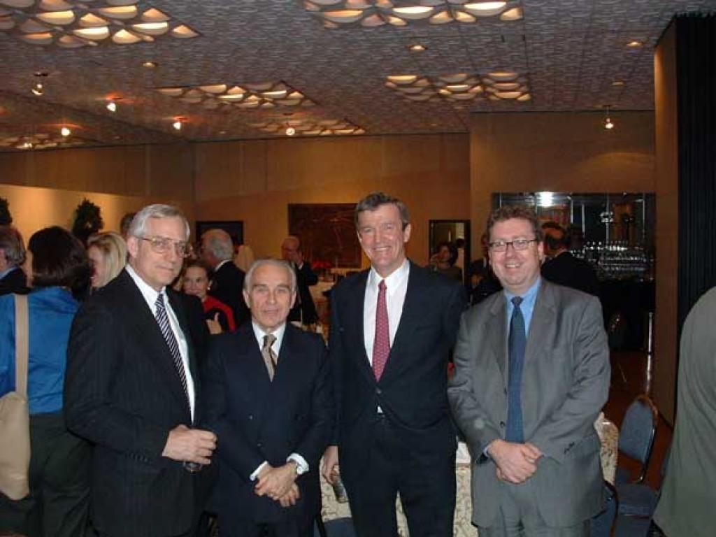 Mr. Michael Muzor, Mr. Gyula Várallyay, Mr. Bang Jensen, Mr. Eugene Young