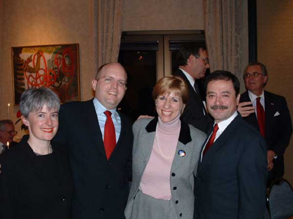 Mr. and Mrs. Phillip Reeker, Mrs. Heather Conley and Ambassador András Simonyi