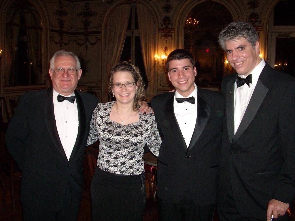 Mr. Zsolt Szekeres and Mr. Maximilian Teleki with Coalition interns Ms. Réka Pipis and Mr. Csaba Fülöp