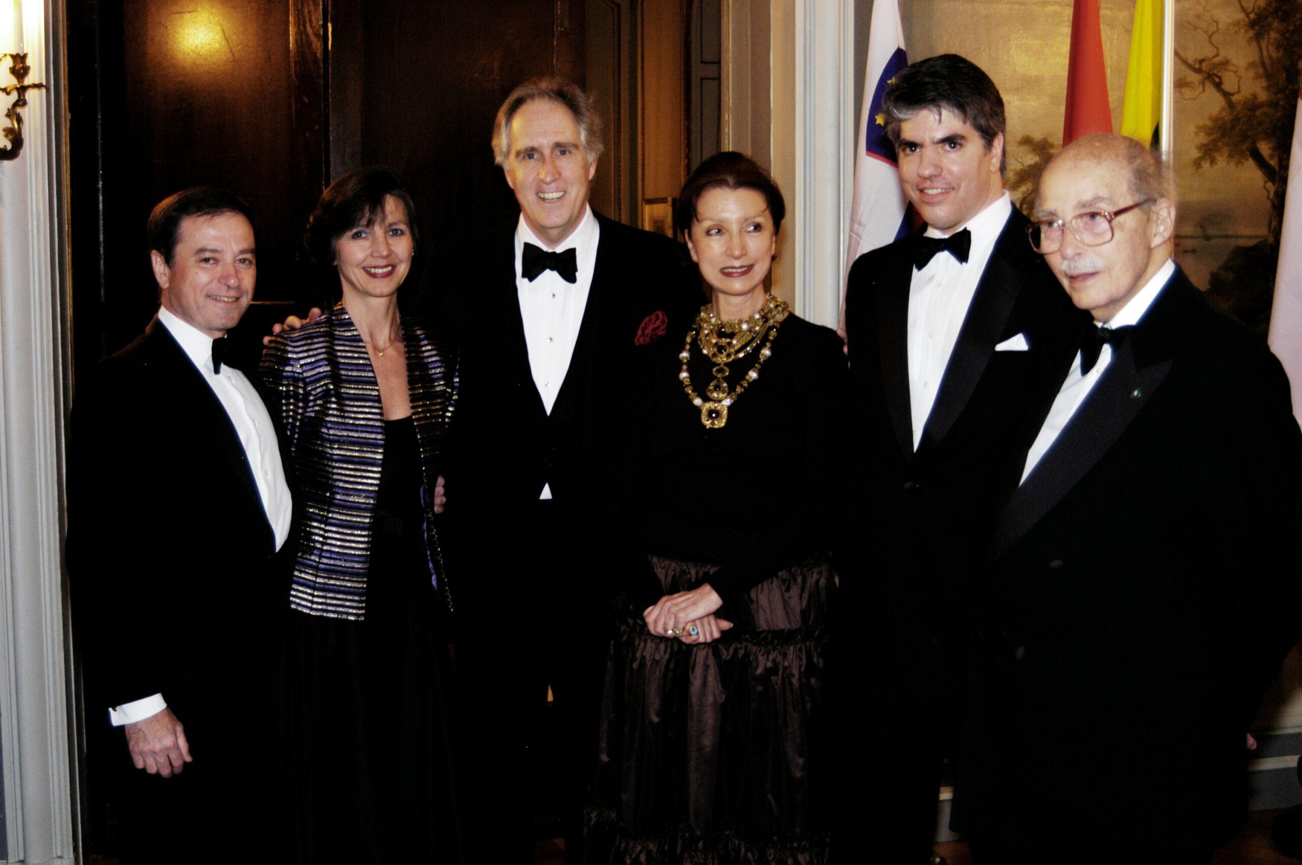 Ambassador András Simonyi, Mrs. Nadia Simonyi, Mr. Nash Whitney Schott, Mrs. Anikó Gaál-Schott, Mr. Maximilian N. Teleki, Dr. Ottó von Habsburg