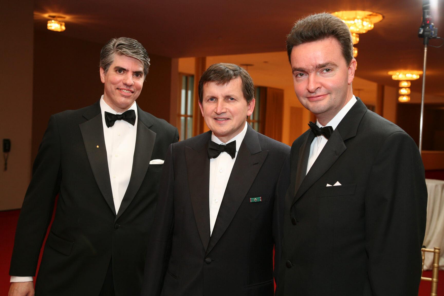 Mr. Maximilian Teleki HAC President, Dr. Charles Simonyi, and Ambassador Georg von Habsburg