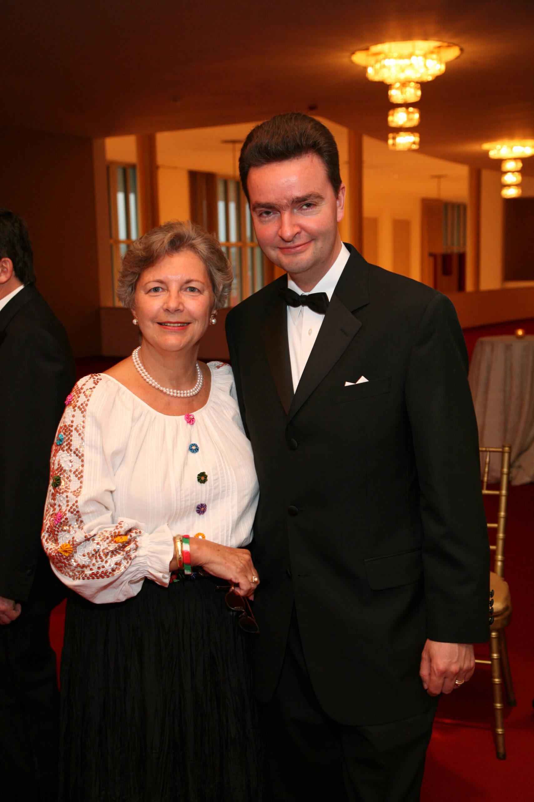Mrs. Edith Lauer, Ambassador Georg von Habsburg
