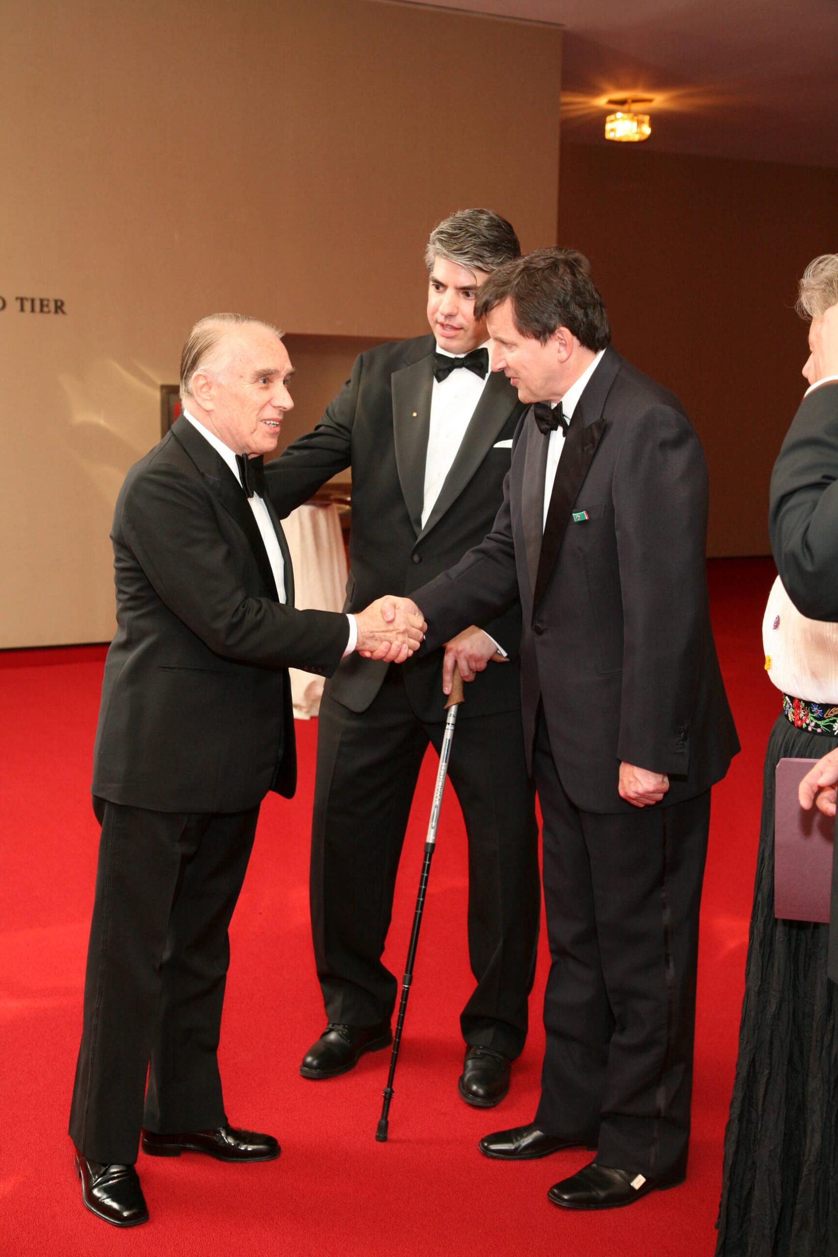 Mr. Julius Varallyay Board Member, Mr. Maximilian Teleki, and Dr. Charles Simonyi