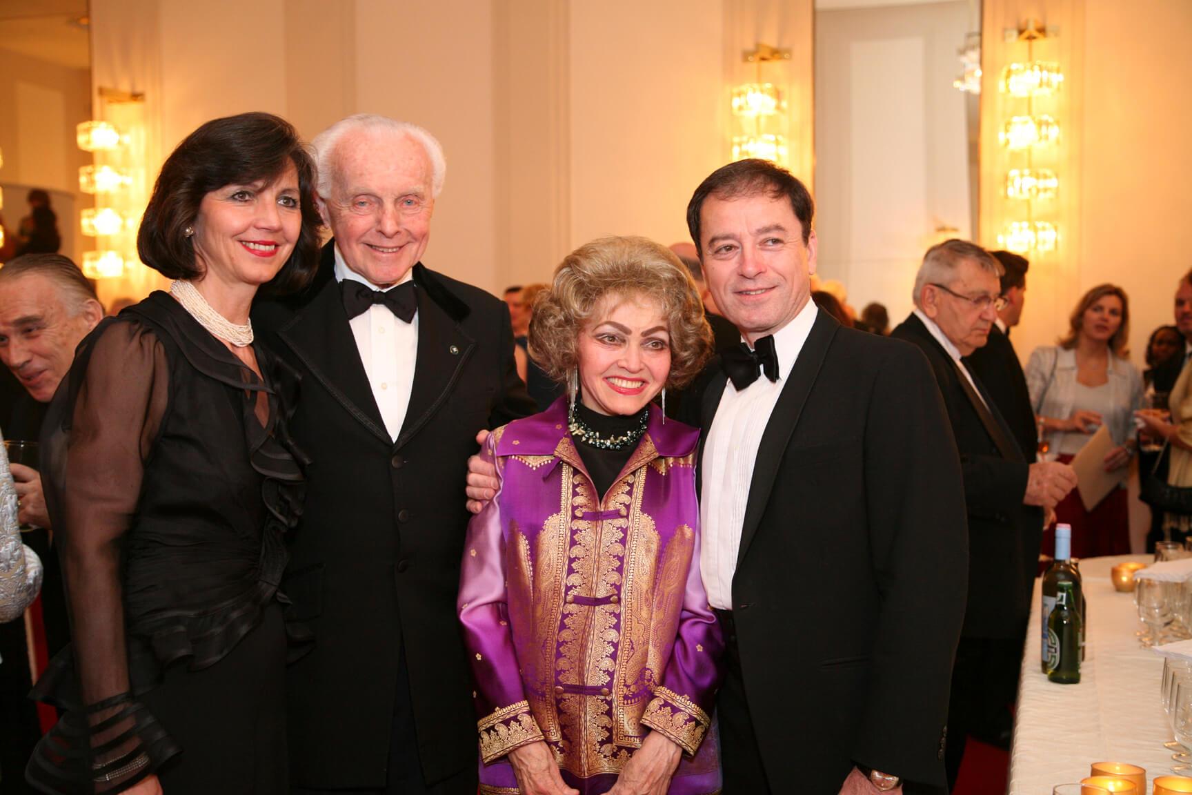 Mrs. Nadja Simonyi, Congressman Tom Lantos, Mrs. Anette Lantos, and Ambassador András Simonyi