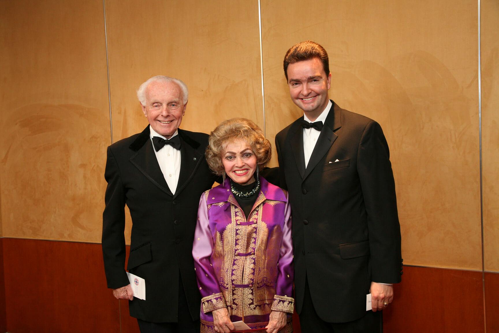 The Honorable Tom Lantos, Mrs. Anette Lantos, and Ambassador Georg von Habsburg