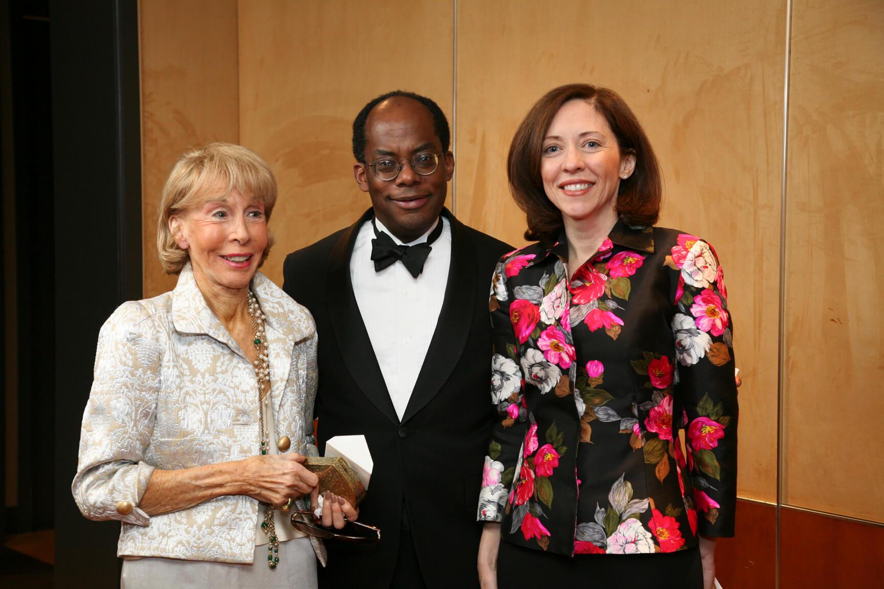 Mrs. Ina Ginsburg, Honorable Roger Ferguson, and Senator Maria Cantwell