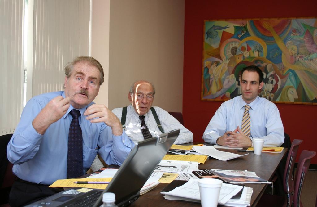 Mr. Balázs Somogyi, Dr. August J. Molnár, Coalition intern Mr. Benedek Varsányi