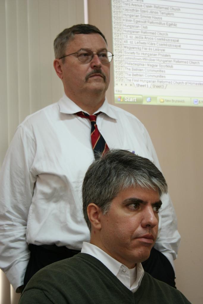 Mr. Imre Lendvai Lintner (standing) and Mr. Maximilian N. Teleki (sitting)