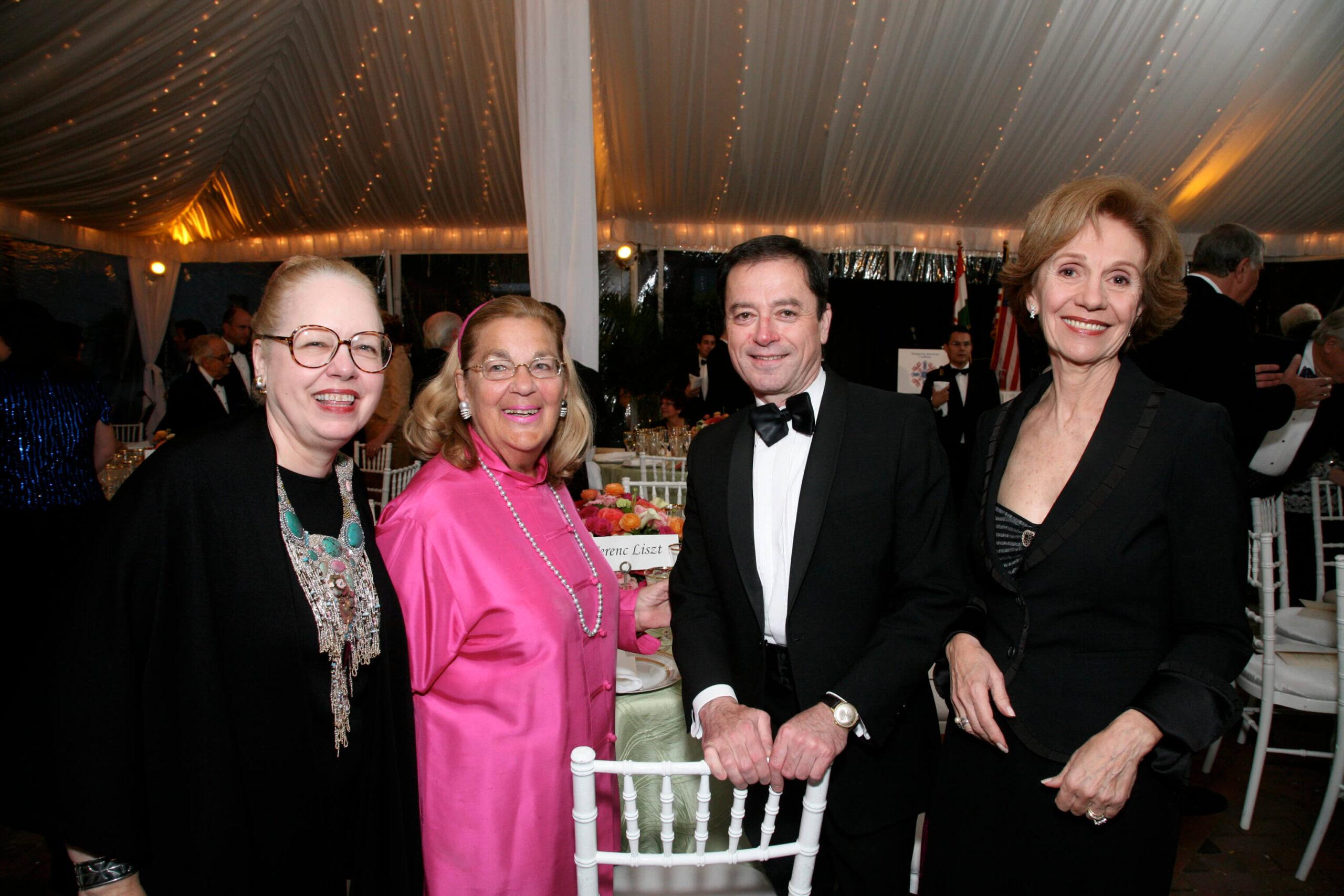 Mrs. Kathy Megyeri, Mrs. Esther Coopersmith, Amb. Andras Simonyi, Mrs. Beatriz Teleki