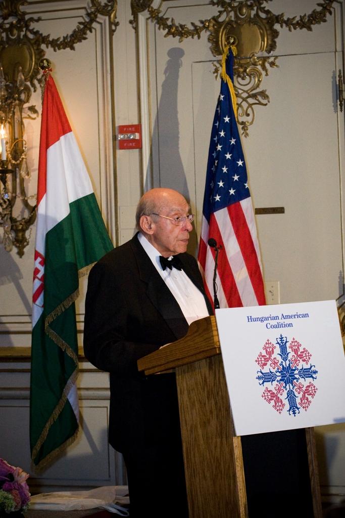 Dr. August J. Molnár delivers his remarks