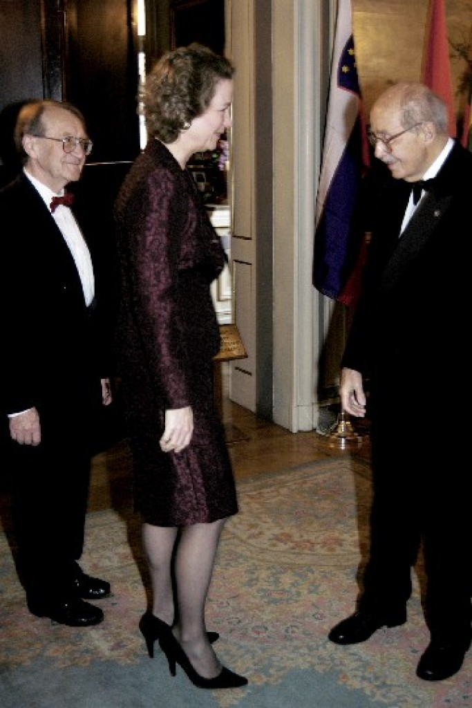 Mr. Roald Sagdeev and Mrs. Sagdeev, Susan Eisenhower, Dr. Ottó von Habsburg