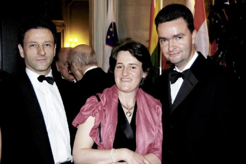 Ambassador & Mrs. Christoph and Marie Charlotte Meran, Ambassador Georg von Habsburg