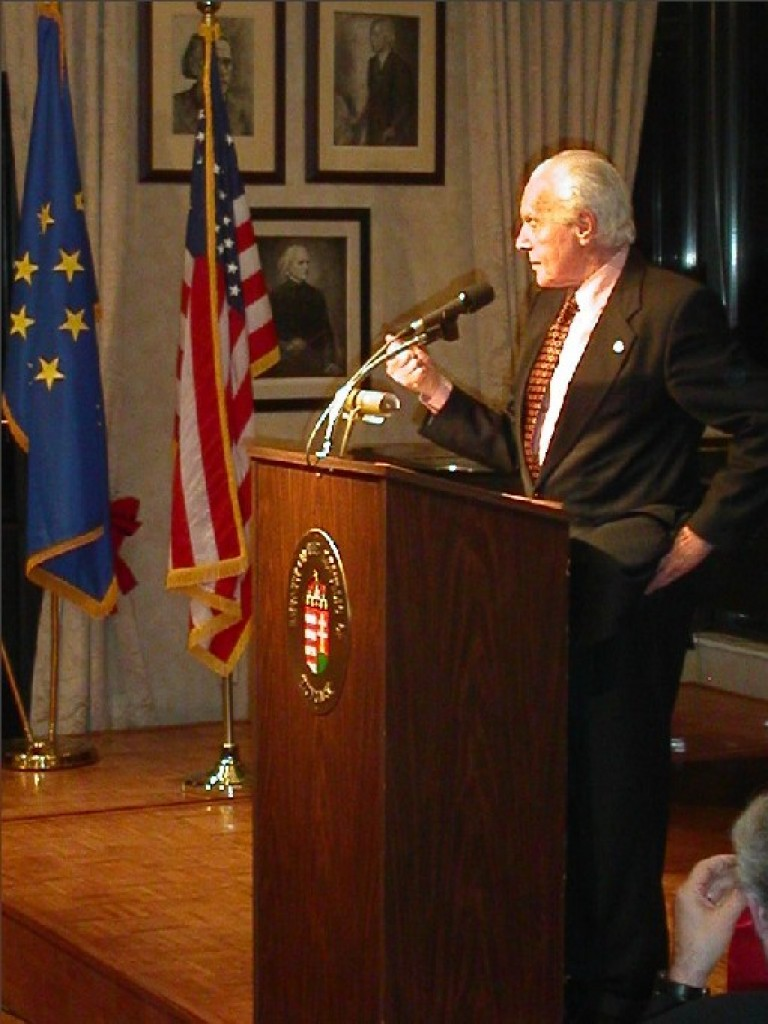 The evening's keynote speaker: Congressman Tom Lantos