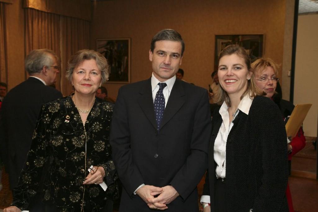 Mrs. Edith K. Lauer, Ambassador Bela Szombati, Mrs. Andrea Lauer Rice