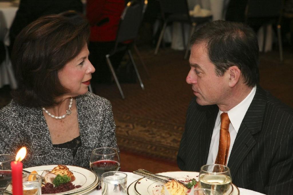 Mrs. Lynne A. Aronoff, Ambassador András Simonyi