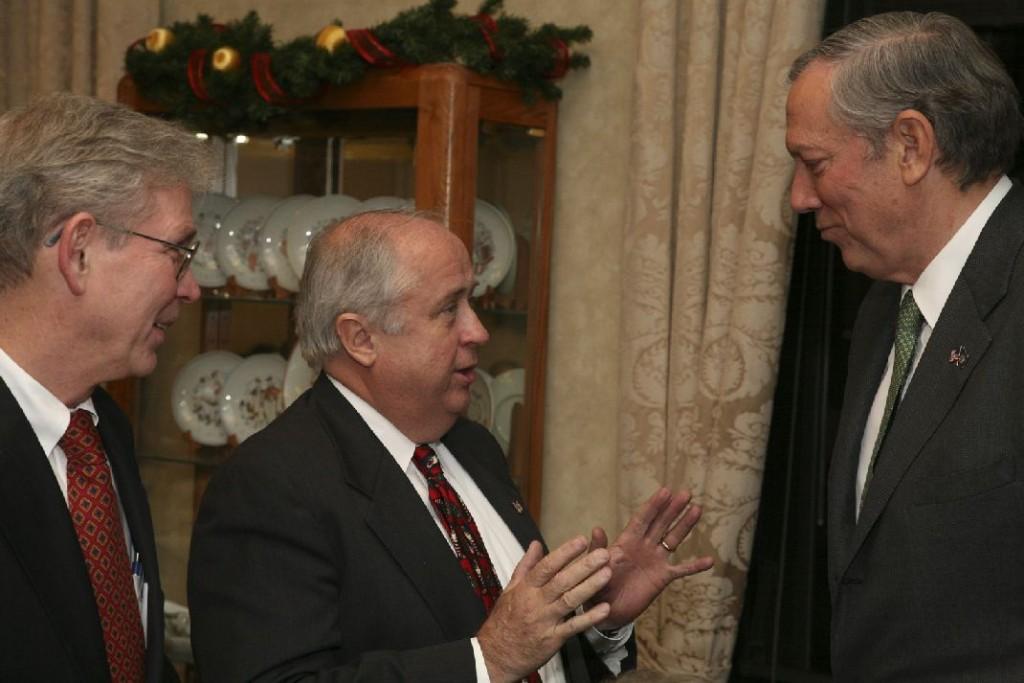 Mr. Laszlo Hamos, Mr. Charles Vamossy, Governor George Pataki