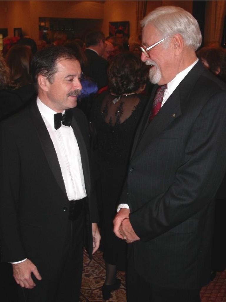 Ambassador András Simonyi and Mr. László Böjtös